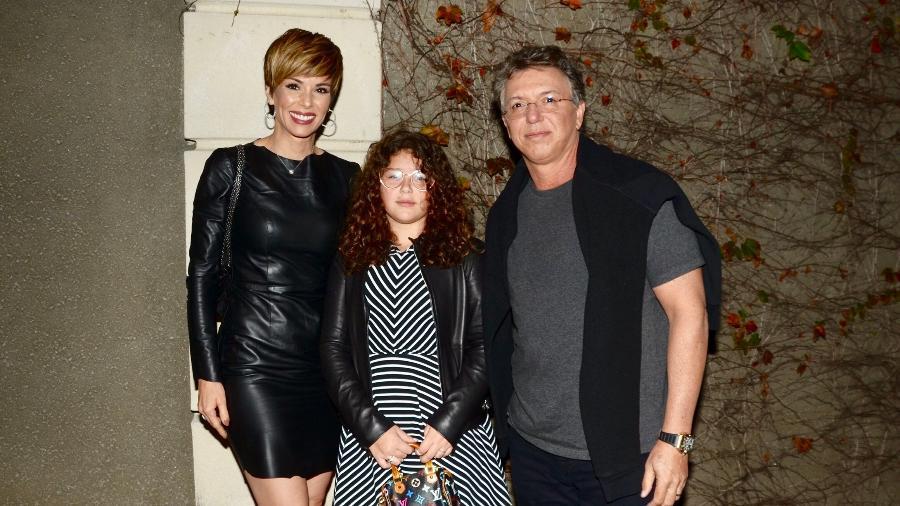 Ana Furtado e Boninho posam com a filha, Isabella - Eduardo Martins/Ag.News