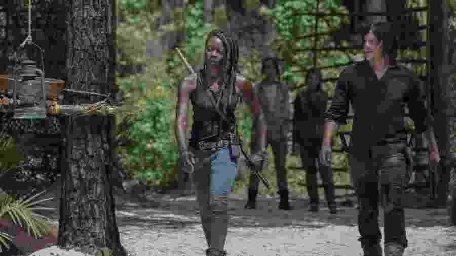 Michonne (Danai Gurira) e Daryl (Norman Reedus) em The Walking Dead - JACKSON LEE DAVIS/AMC