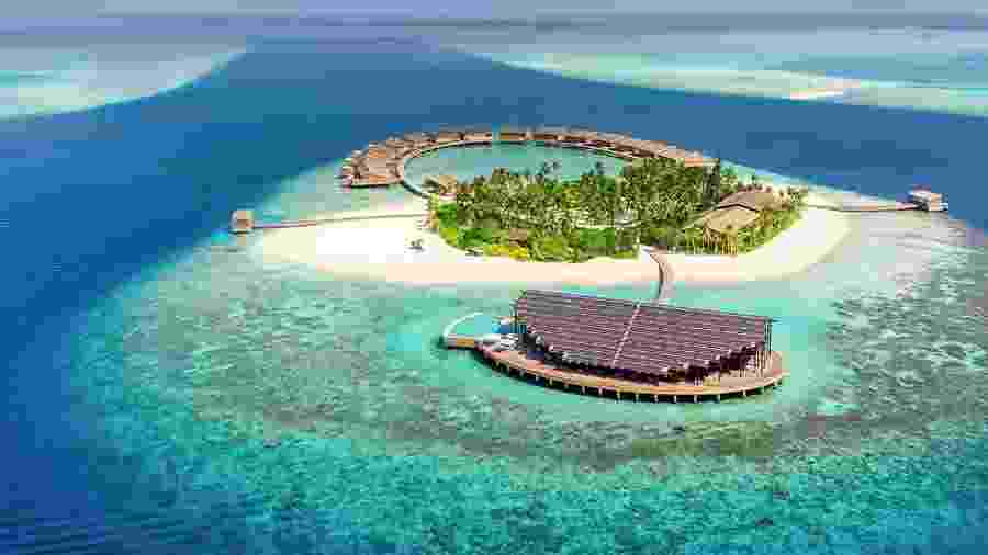 O resort Kudadoo Maldives, nas Maldivas - Divulgação
