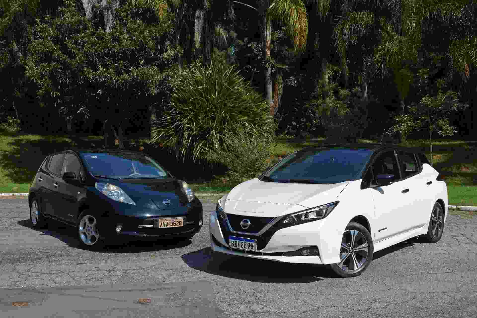 Nissan Leaf 2010 x Nissan Leaf 2020 - Murilo Góes/UOL