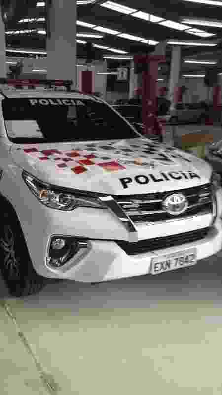 blindagem parcial PM Polícia Militar SP viatura Toyota Hilux SW4 Totality blindadora dianteira - Divulgação - Divulgação