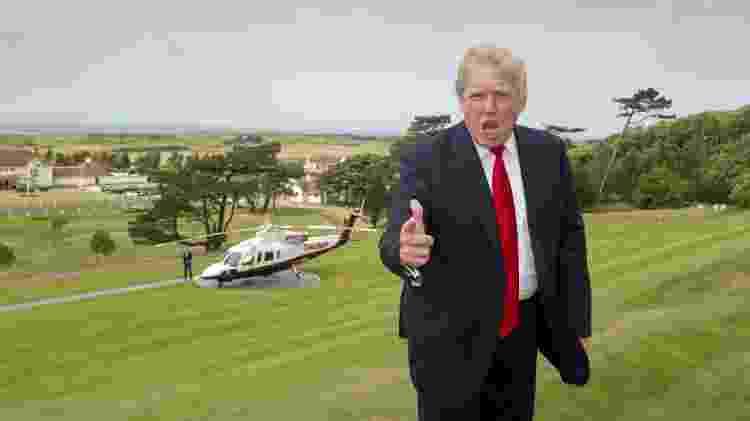 Donald Trump comemora compra do Turnberry hotel, em 2014 - PA Images via Getty Images - PA Images via Getty Images