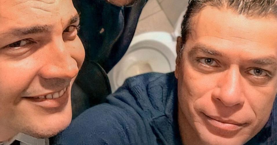Rodrigo e Fabio aparecem acompanhados de Daniel Boaventura
