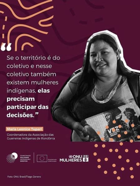 Guerreiras - Reprodução/Instagram Associação das Guerreiras Indígenas de Rondônia - Reprodução/Instagram Associação das Guerreiras Indígenas de Rondônia