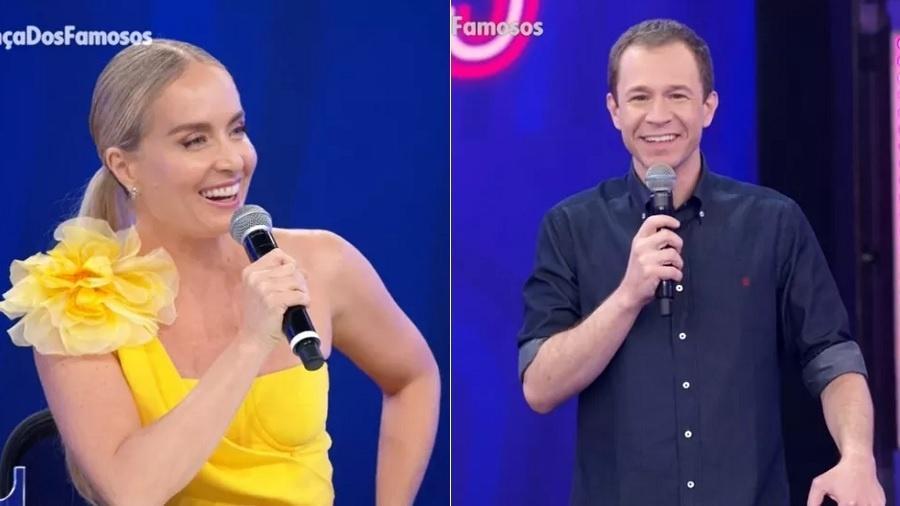 Angélica prevê que Leifert ficará mais tempo aos domingos - Reprodução/Rede Globo
