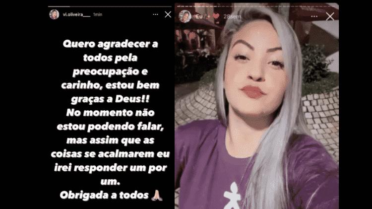 Vitória Oliveira  - Reprodução/Instagram - Reprodução/Instagram
