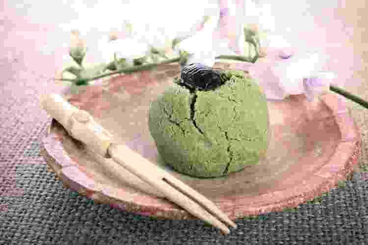 O tradicional manju, bolinho assado com recheio de feijão azuki - Getty Images/iStockphoto - Getty Images/iStockphoto
