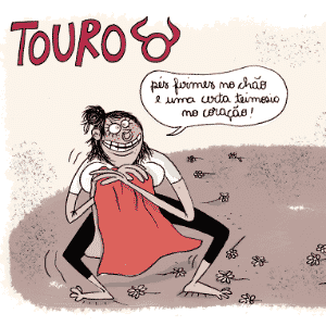 Charge Chiquinha - Touro - Chiquinha