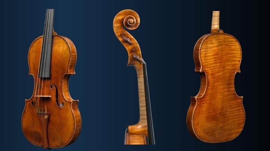 Violino de 1684 do mestre luthier Antoni Stradivari, conhecido como ex-Croall - Divulgação/Ingles&Hayday