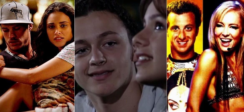 José Loreto e Débora Nascimento, Lucas Lima e Sandy, Luciano Huck e Angélica: casais que se conheceram em cena - Montagem/UOL