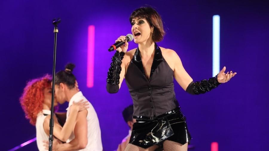 Fernanda Abreu em show no Rock in Rio - Daniel Pinheiro/Agnews
