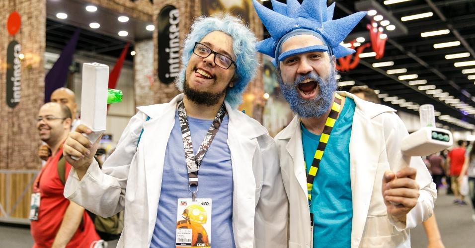 """Só nos corredores do São Paulo Expo é possível um encontro entre dois Rick Sanchez, personagem do desenho """"Rick and Morty"""""""