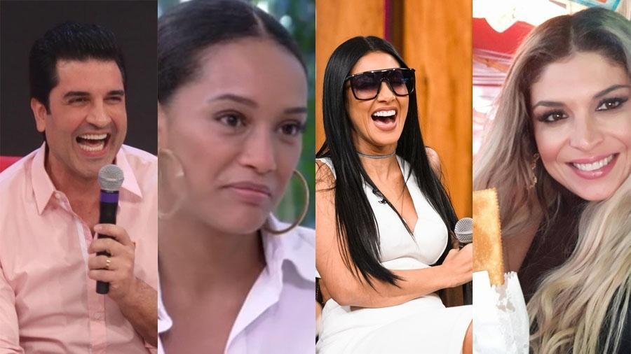 Edu Guedes, Taís Araújo, Simone e Adryana: eles estiveram nas manchetes em 2017 - Divulgação