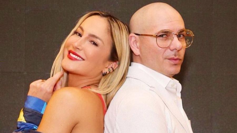 Claudia Leitte ao lado de Pitbull - Divulgação/Instagram
