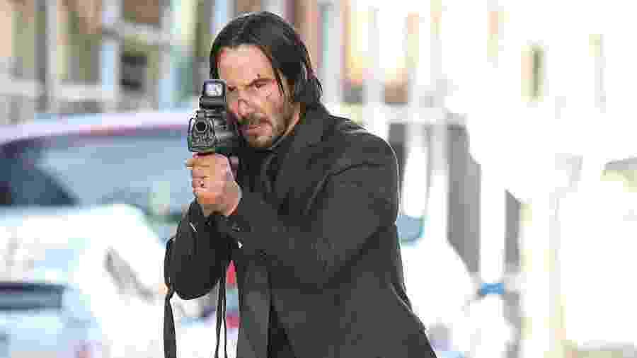 """Keanu Reeves em cena de """"John Wick: De Volta ao Jogo"""", de 2014 - Divulgação"""