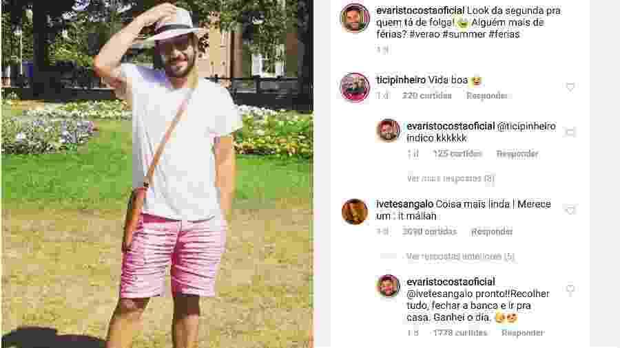 Evaristo Costa ganha elogio de Ivete Sangalo - Reprodução/Instagram