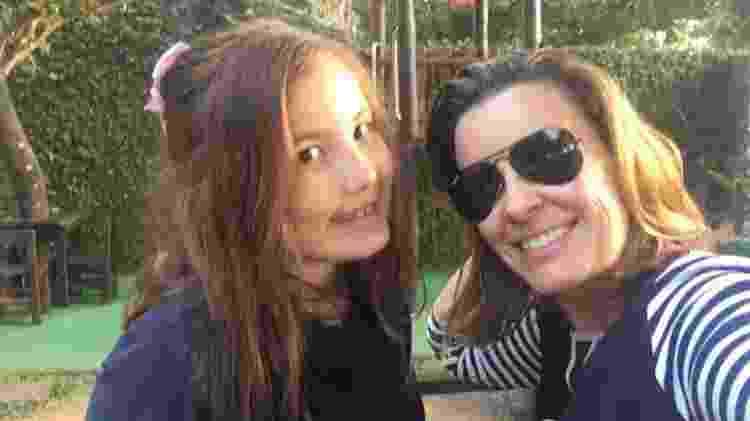 Vanessa de Oliveira com a filha Giovanna, de 8 anos - Acervo pessoal - Acervo pessoal