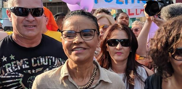 A candidata da Rede à Presidência, Marina Silva