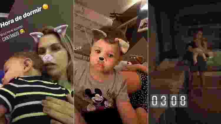 Andressa Suita com filhos - Reprodução/Stories - Reprodução/Stories