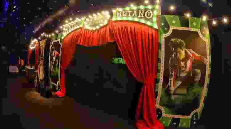 """Área inspirada no personagem Mutano, no circo montado pela Netflix para a estreia de """"Titãs"""" - Divulgação/Netflix - Divulgação/Netflix"""