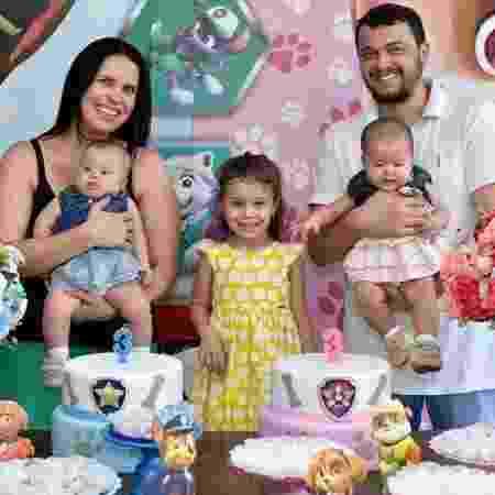 Raquel, Luiza, Laura, Daniel e Livia - Arquivo pessoal - Arquivo pessoal