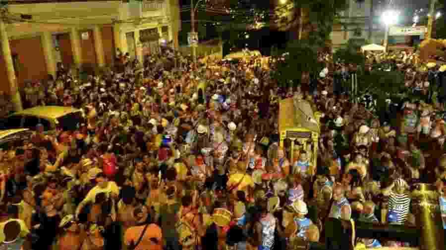 Badalo de Santa Teresa, em desfile de 2018 - Reprodução/Facebook
