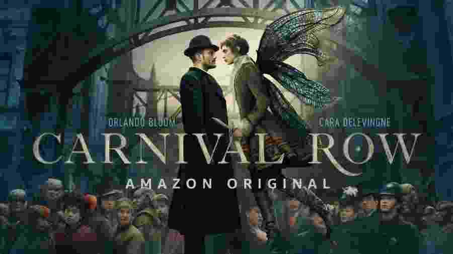 """Pôster promocional de """"Carnival Row"""", da Amazon - Divulgação"""