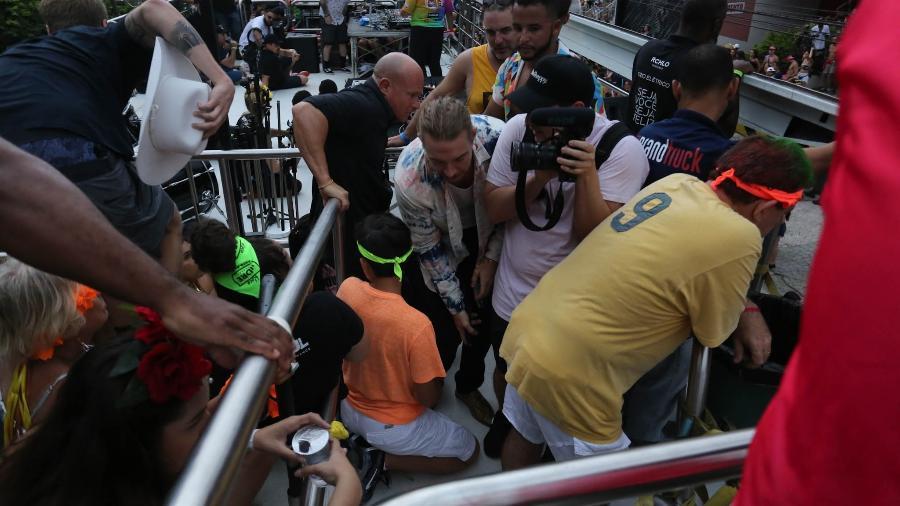 Diplo é retirado em bloco do Carnaval de São Paulo - Amauri Nehn/Brazil News