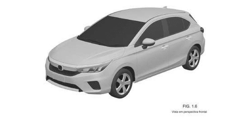 Novo Honda City Hatch 2021 Registro INPI - Reprodução - Reprodução