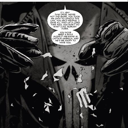 Justiceiro dá lição de moral em policiais nos quadrinhos - Reprodução - Reprodução