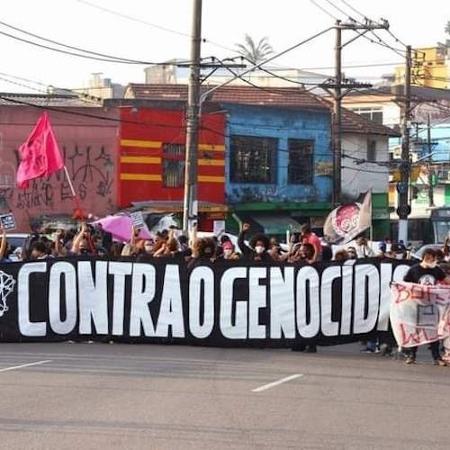 Manifestação da Rede de Proteção e Resistência contra o Genocídio na periferia de São Paulo - Divulgação
