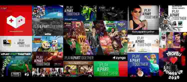 Manifestações do movimento #PlayApartTogether - Reprodução / Facebook (Play Apart Together) - Reprodução / Facebook (Play Apart Together)