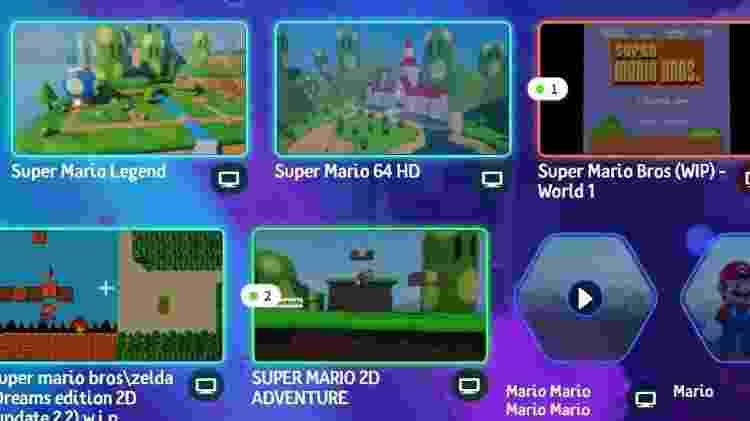 Jogos de Mario feitos por fãs na plataforma Dreams - Reprodução / indreams.me - Reprodução / indreams.me