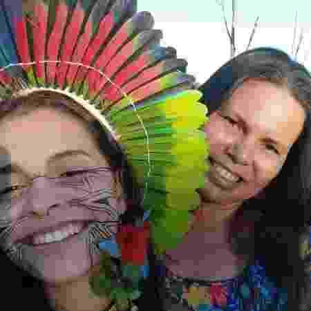 Alice Pataxó e sua mãe Tamikua Pataxó  - Arquivo pessoal - Arquivo pessoal