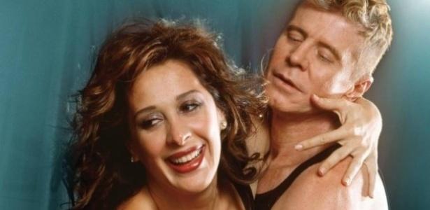 Claudia Raia e Miguel Falabella em imagem de divulgação da peça escrita por Mauro Rasi - Divulgação