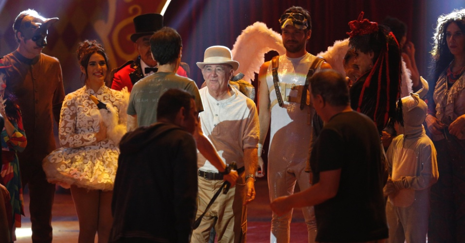 Renato Aragão durante as filmagens de seu 40° filme, continuação de