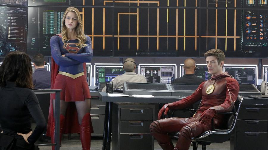"""Supergirl e Flash já se encontraram em episódio de """"Supergirl"""" - Divulgação"""