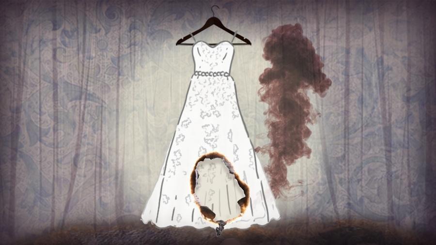 Já teve noiva até com vestido queimado enquanto se arrumava para a cerimônia - Didi Cunha/IlustraçãoUOL