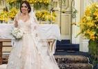 """Vestido de Shirlei, de """"Haja Coração"""", combina com noivas românticas - Reprodução/ Revista Caras"""