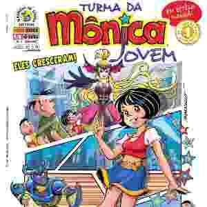 Capa da edição número 1 em que apresenta os personagens da Turma da Mônica adolescentes - Reprodução