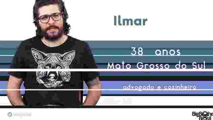"""Ilmar """"BBB17"""" - Reprodução/TV Globo - Reprodução/TV Globo"""