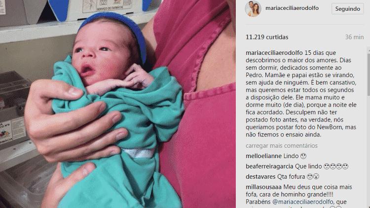 Maria Cecília e Rodolfo mostram fotos do filho Pedro - Reprodução/Instagram - Reprodução/Instagram
