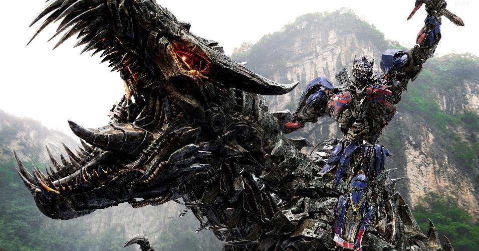 Cena de ?Transformers: A Era da Extinção? (2014), de Michael Bay