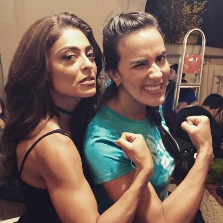 Juliana Paes ao lado da lutadora de MMA, Erica Paes - Reprodução/Instagram