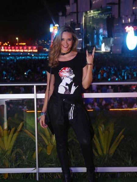 Juliana Paiva no Rock in Rio - Reprodução/Instagram