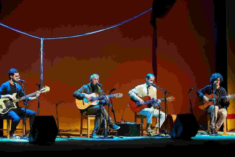 Zeca, Caetano, Moreno e Tom Veloso tocam juntos em São Paulo - Manuela Scarpa/Brazil News