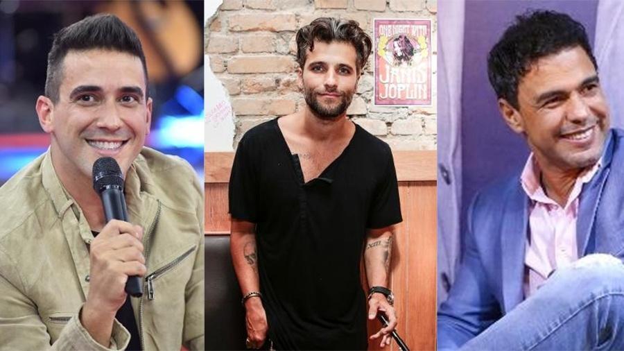 André Marques, Bruno Gagliasso e Zezé - Montagem UOL