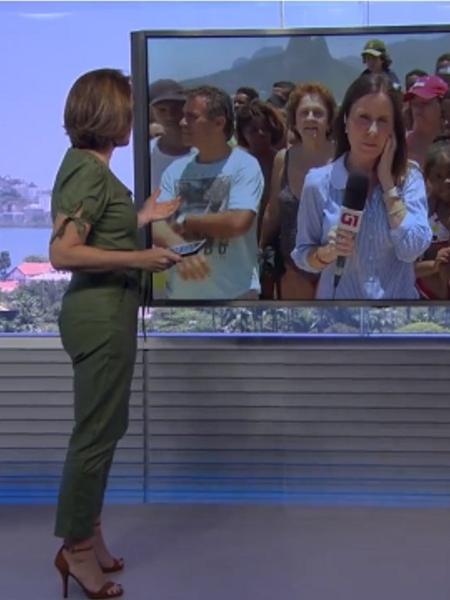 Vendedor oferece picolé à repórter da Globo, que recusa - Reprodução/TV Globo