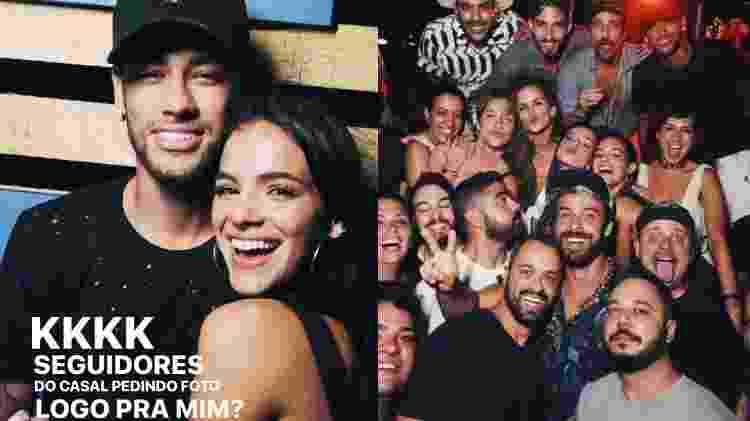 Sorridentes, Neymar e Bruna Marquezine se divertem juntinhos na festa  Borogodó em Fernando de Noronha - Reprodução/Instagram - Reprodução/Instagram