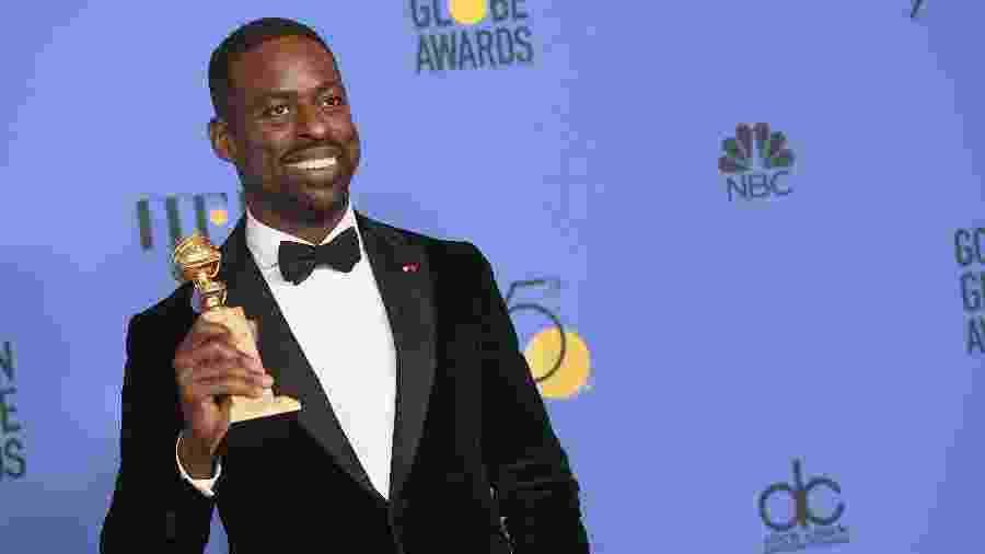 """Sterling K. Brown, o primeiro atro negro a vencer o Globo de Ouro na categoria melhor ator de série dramática, por """"This is Us"""" - Getty Images"""